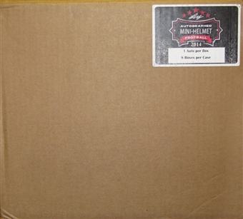 2014 Leaf Autographed Mini-Helmet Football Hobby 8-Box Case