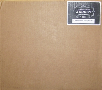 2014 Leaf Autographed Jersey Football Hobby 6-Box Case