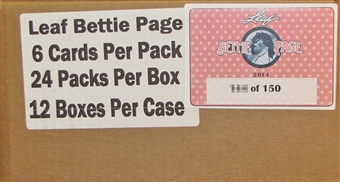 2014 Leaf Bettie Page Collection 12-Box Case