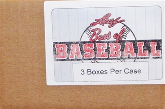 2014 Leaf Best Of Baseball Hobby 3-Box Case