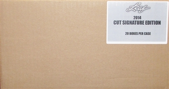 2014 Leaf Cut Signature Edition 20-Box Case