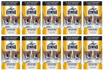 2014 Leaf Draft Football Box (Lot of 10) Twenty Autographs !!!