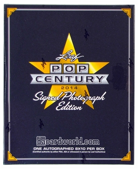 2014 Leaf Pop Century Signed Photo Edition Hobby Box