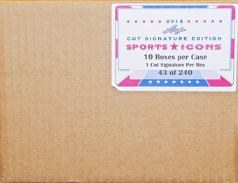2014 Leaf Sports Icons Cut Signature Edition Hobby 10-Box Case