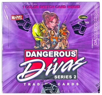 Marvel Dangerous Divas Series 2 Trading Cards Box (Rittenhouse 2014)