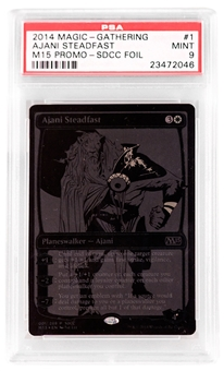 Magic the Gathering Promo Single Ajani Steadfast SDCC Black Variant - PSA 9 *23472046*
