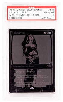 Magic the Gathering Promo Single Liliana Vess 2014 SDCC Black Variant- PSA 10 *23472044*