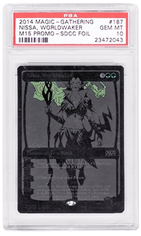 Magic the Gathering Promo Single Nissa Worldwaker SDCC Black Variant - PSA 10 *23472043*