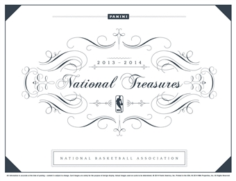2013/14 Panini National Treasures Basketball Hobby Box (Presell)