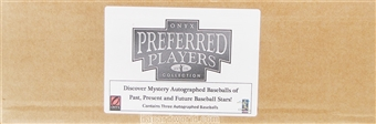 2014 Onyx Preferred Players Collection Baseball Hobby 3-Box Case