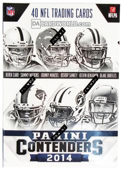 2014 Panini Contenders Football 5-Pack THREE 20-Box Case- DACW Live 32 Spot Random Team Break #2