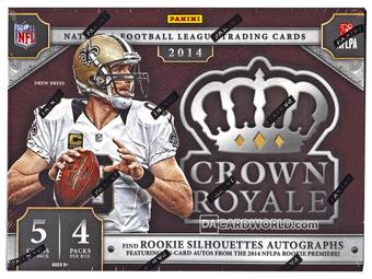 2014 Panini Crown Royale Football THREE Hobby Case- DACW Live 32 Spot Random Break #2