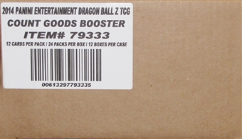 Panini Dragon Ball Z Booster 12-Box Case