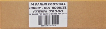 2014 Panini Hot Rookies Football Hobby 12-Box Case