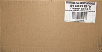 2014 Press Pass Wheels American Thunder Racing Hobby 20-Box Case