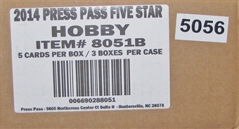 2014 Press Pass Five Star Racing Hobby 3-Box Case