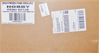2014 Press Pass Redline Racing Hobby 20-Box Case