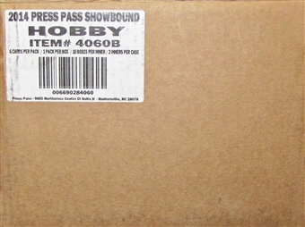 2014 Press Pass Showbound Football Hobby 20-Box Case