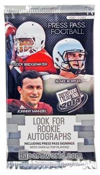2014 Press Pass Football Hobby Pack
