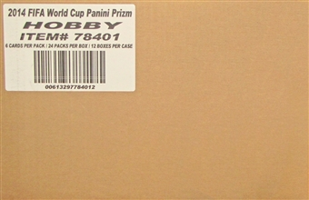 2014 Panini Prizm FIFA World Cup Soccer Hobby 12-Box Case