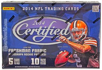 2014 Panini Certified Football Hobby 8-Box Case- DACW Live 32 Spot Random Team Break #3