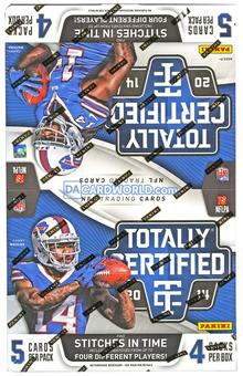 2014 Panini Totally Certified Football Hobby Box - Get 4 Autos or Memorabilia Cards !!!
