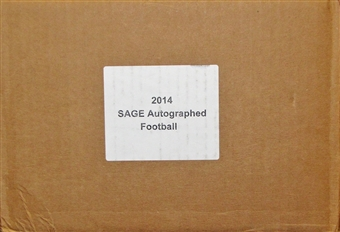 2014 Sage Autographed Football Hobby 10-Box Case