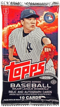 2014 Topps Update Baseball Hobby Pack