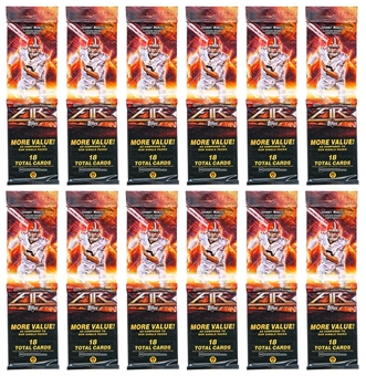 2014 Topps Fire Football Jumbo Rack Pack (Lot of 12) (216 Cards!)