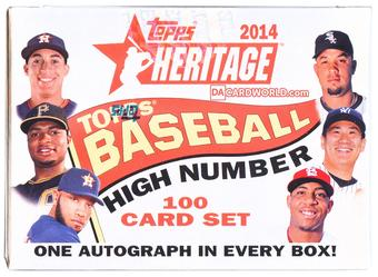 2014 Topps Heritage High Number Baseball Hobby Box (Set)