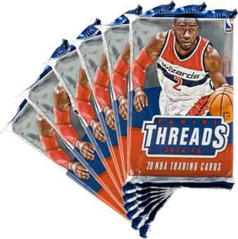2014/15 Panini Threads Basketball Blaster Pack (Lot of 6)