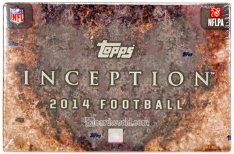 2014 Topps Inception Football Hobby Box