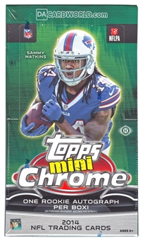 2014 Topps Chrome Mini Football Hobby Box