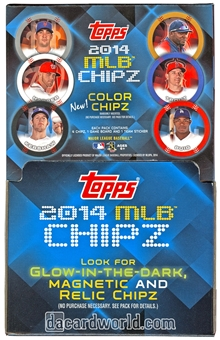 2014 Topps MLB Chipz Baseball Hobby Box