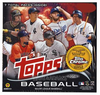 2014 Topps Update Baseball MEGA Box (5 Packs Topps Update/2 Packs Topps Chrome Update)