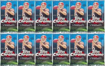 2014 Topps Chrome Football Hobby Pack (Lot of 12)