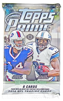 2014 Topps Prime Football Hobby Pack