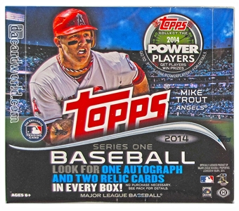 2014 Topps Series 1 Baseball Jumbo Box