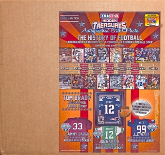 2014 TriStar Hidden Treasures Autographed 8x10 History Of Football Hobby 30-Pack Case