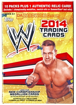 2014 Topps WWE Wrestling 10-Pack Box (PLUS One Relic Card!)