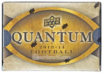 2014 Upper Deck Quantum Football Hobby Box