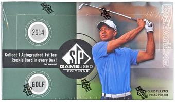 2014 Upper Deck SP Game Used Golf Hobby Box (PLUS 2 UD 25th Anniversary Packs)