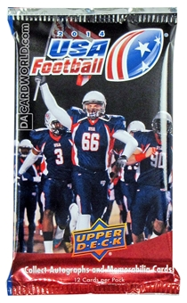 2014 Upper Deck USA Football Hobby Pack