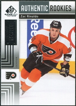2011/12 Upper Deck SP Game Used #154 Zac Rinaldo RC /699