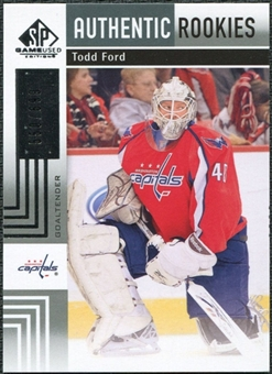 2011/12 Upper Deck SP Game Used #155 Todd Ford RC /699