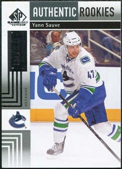 2011/12 Upper Deck SP Game Used #162 Yann Sauve RC /699