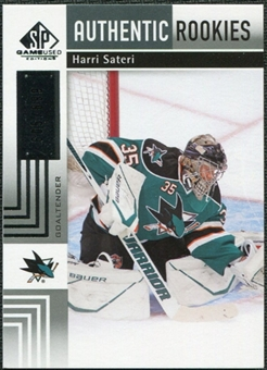 2011/12 Upper Deck SP Game Used #166 Harri Sateri RC /699