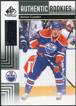 2011/12 Upper Deck SP Game Used #168 Anton Lander RC /699