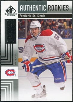 2011/12 Upper Deck SP Game Used #183 Frederic St. Denis RC /699