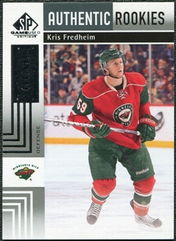 2011/12 Upper Deck SP Game Used #185 Kris Fredheim RC /699